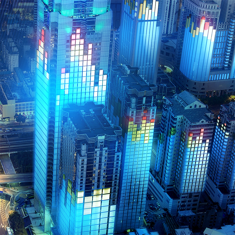 Modern City at Dusk,shenzhen